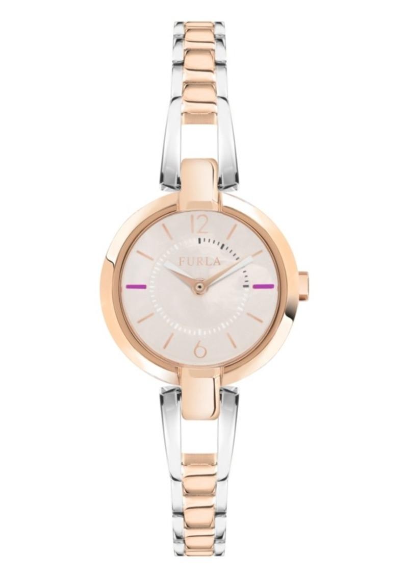 Furla Women's Linda Rose Dial Stainless Steel Watch