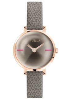 Furla Women's Mirage Champagne Dial Calfskin Leather Watch