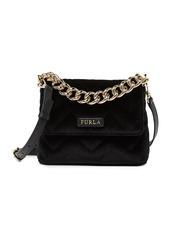 Furla Gaya Mini Velvet Convertible Top Handle Bag