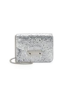 Furla Julia Glitter Leather Mini Crossbody Bag
