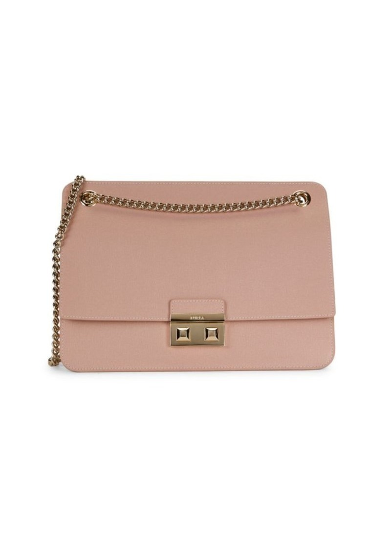 Furla Leather & Chain Strap Shoulder Bag