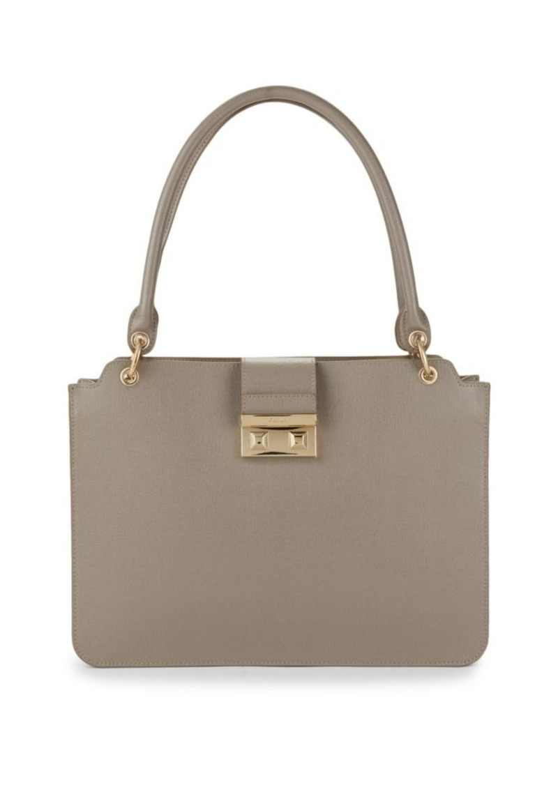 Furla Leather Double Top Handle Bag
