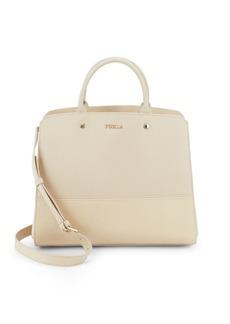 Furla Leather Top Handle Tote Bag