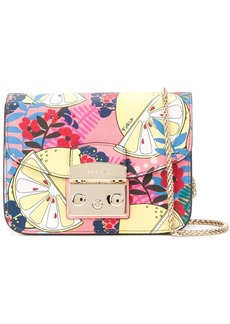 Furla lemon print Metropolis bag