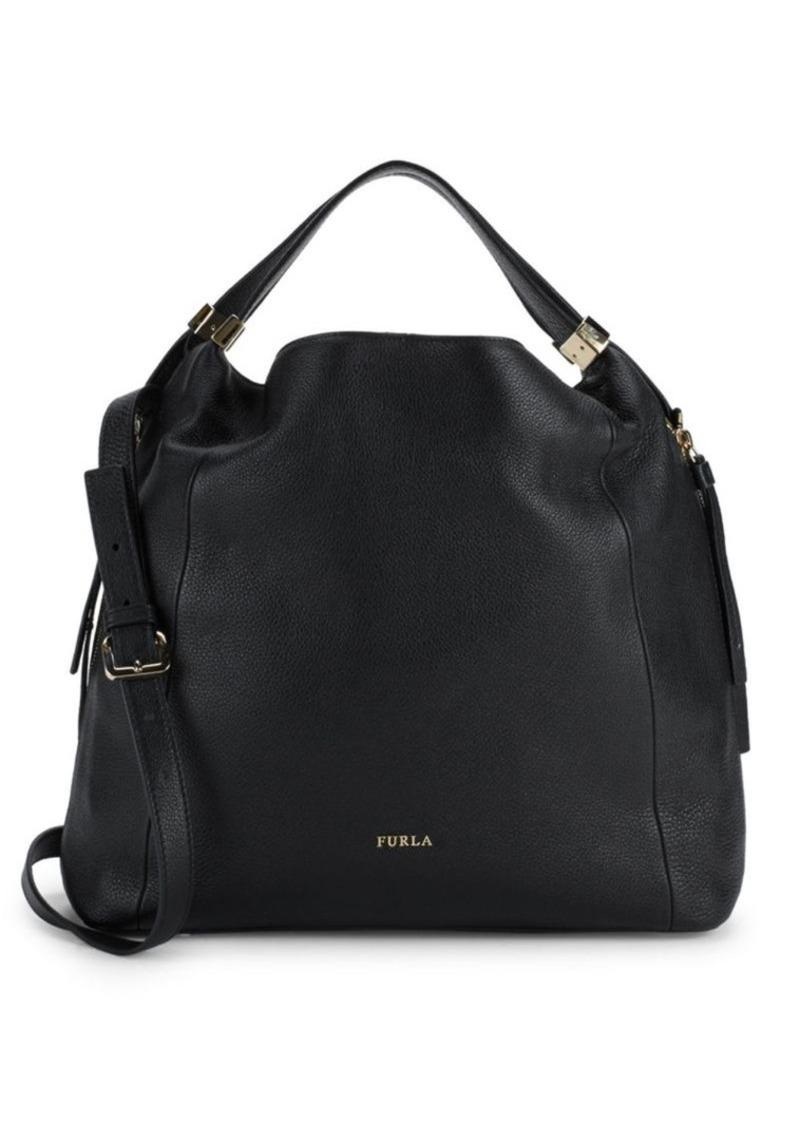 Furla Liz Leather Hobo Bag