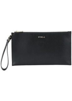Furla logo clutch bag