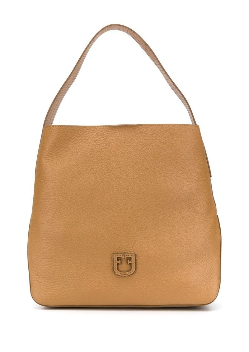 Furla logo patch tote bag