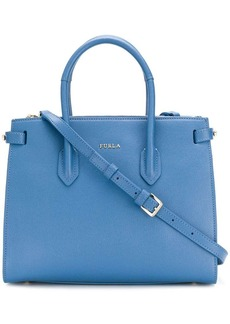 Furla logo plaque tote bag