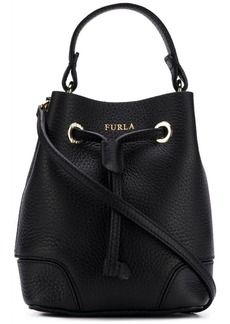 Furla logo printed bucket bag