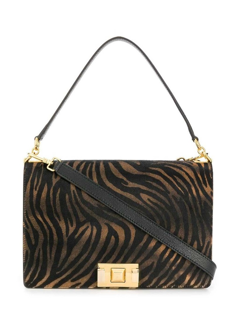 Furla 'Mimi' zebra print shoulder bag