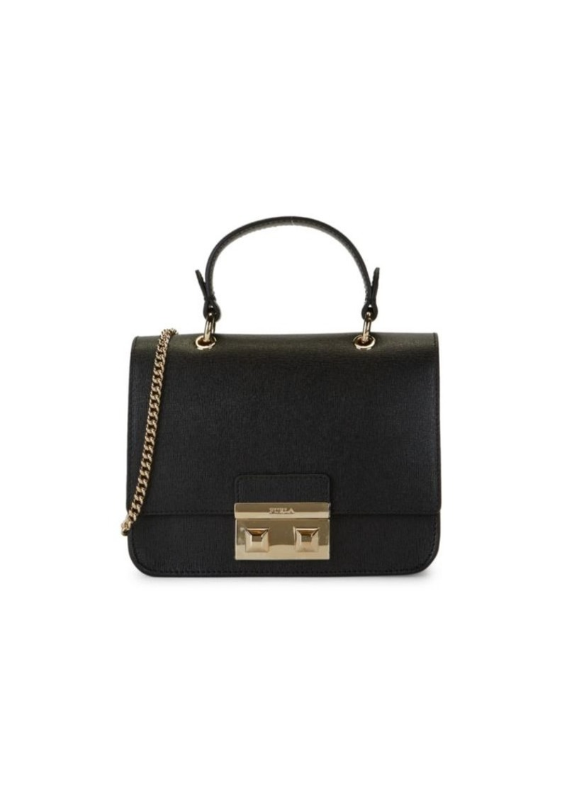 Furla Mini Bella Leather Top Handle Bag