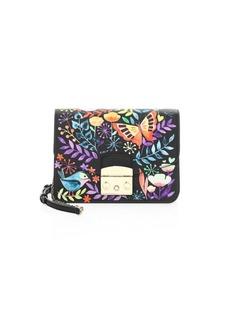 Furla Mini Floral Printed Clutch Bag