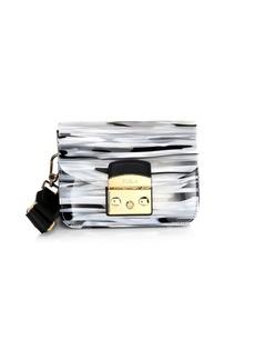 Furla Mini Metropolis Bovisa Zebra Shoulder Bag