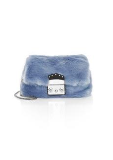 Furla Mini Metropolis Faux Fur Crossbody Bag