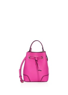 Furla Mini Stacy Leather Drawstring Crossbody Bucket Bag