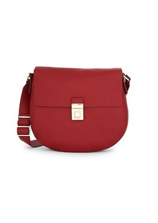 Furla Pebbled Leather Saddle Bag