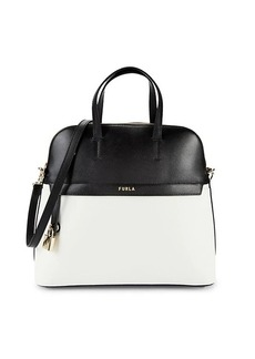Furla Piper L Dome Leather Top Handle Bag