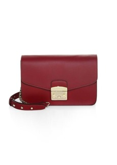 Furla Polished Leather Shoulder Bag
