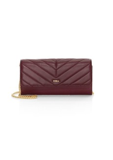 Furla Quilted Leather Wallet-On-Chain