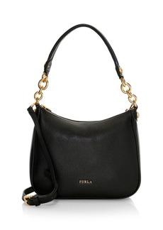 Furla Small Cometa Pebbled Leather Hobo Bag