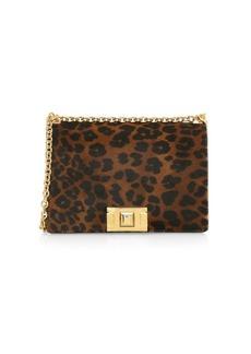 Furla Small Mimi Leopard Suede & Leather Crossbody Bag