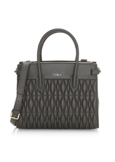 Furla Small Pin Cometa Leather Tote