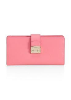 Furla Snap Leather Checkbook Wallet