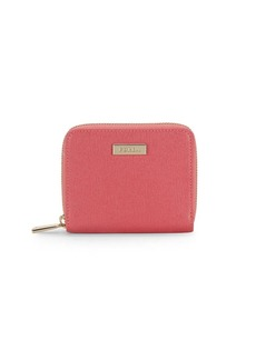 Furla Square Shaped Leather Zip-Around Wallet