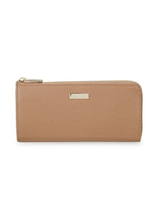 Furla Three-Quarter Zip Leather Wallet
