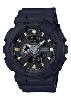 G-Shock Baby-g Women's Analog-Digital Black Resin Strap Watch 43x46mm BA110GA-1A