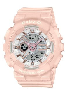 G-Shock Baby-g Women's Analog-Digital Blush Resin Strap Watch 43.4mm