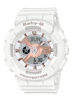 G-Shock Baby-g Women's Analog-Digital White Resin Strap Watch 43.4mm
