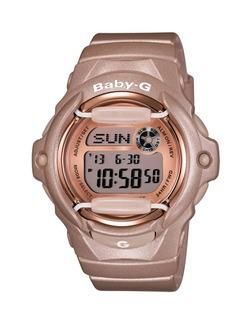 G-Shock Baby-g Women's Digital Beige Resin Strap Watch 43x46mm BG169G-4
