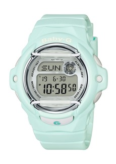 G-Shock Baby-g Women's Digital Green Resin Strap Watch 42.6mm