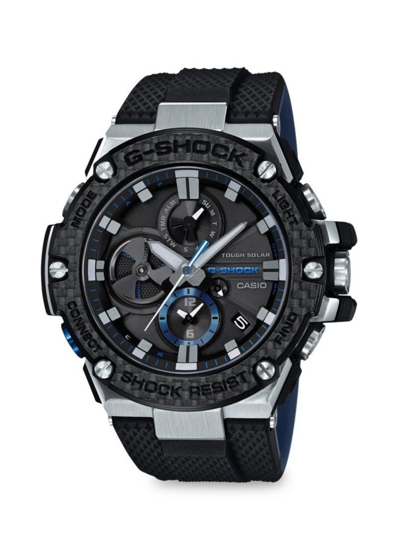 G-Shock Resin and Rubber-Strap Analog Watch