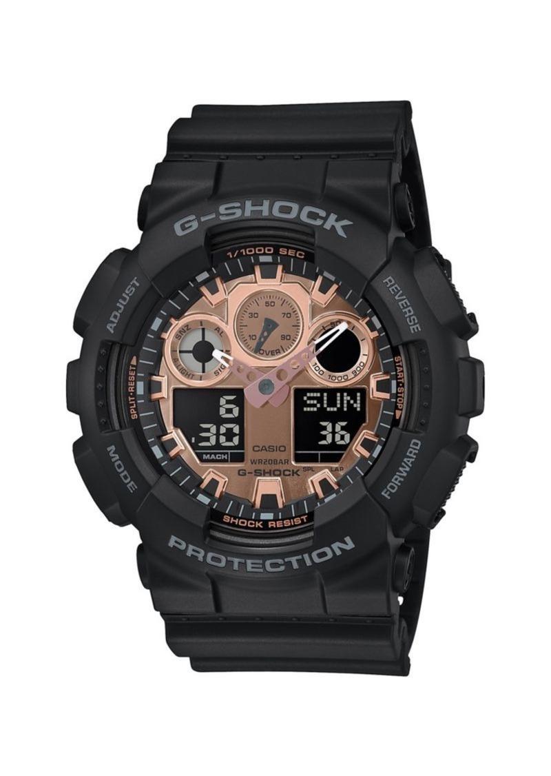 G-Shock Digital-Analog Black Resin Strap Watch