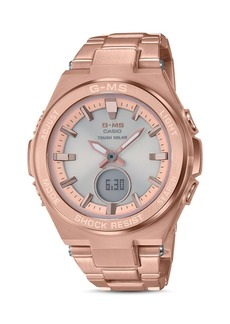 G-Shock G-MS Rose Gold-Tone Watch, 38.4mm