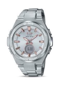 G-Shock G-MS Silver-Tone Watch, 38.4mm