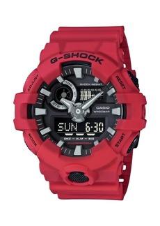G-Shock G-Shock Red Analog and Digital Resin Strap Watch