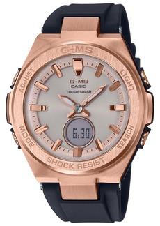 G-Shock Ladies Black and Rose Gold-Tone Ana-Digi Watch