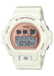 G-Shock Ladies Retro Digital S Series Cream with Rose Gold-Tone Face Watch