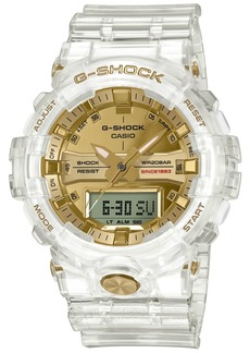 G-Shock Men's Analog-Digital Clear Resin Strap Watch 48.6mm