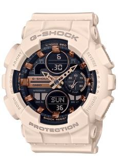 G-Shock Women's Blush and Rose Gold-Tone Analog Digital Resin Strap Watch 45.9mm