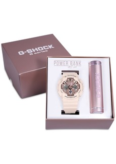 G-Shock Women's Analog-Digital Blush Resin Strap Watch 45.9mm Gift Set, Created for Macy's