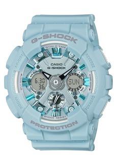 G-Shock Women's Analog-Digital Light Blue Resin Strap Watch 45.9mm