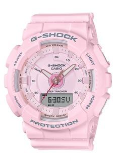 G-Shock Women's Analog-Digital Pink Strap Step Tracker Watch 50mm