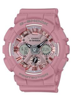 G-Shock Women's Analog-Digital Rose Resin Strap Watch 45.9mm