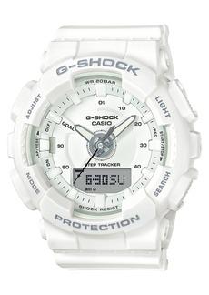 G-Shock Women's Analog-Digital White Strap Step Tracker Watch 50mm