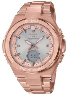 G-Shock Women's Solar Analog-Digital Rose Gold-Tone Stainless Steel Bracelet Watch 38.4mm