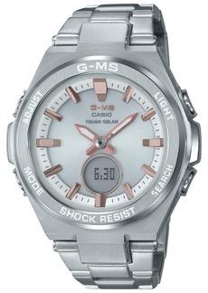 G-Shock Women's Solar Analog-Digital Stainless Steel Bracelet Watch 38.4mm